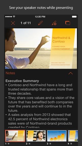 Microsoft PowerPoint (App พรีเซนเทชั่น งานนำเสนอ) :