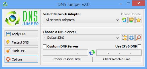 DNS Jumper (โปรแกรมเปลี่ยน DNS อย่างรวดเร็ว ฟรี) :