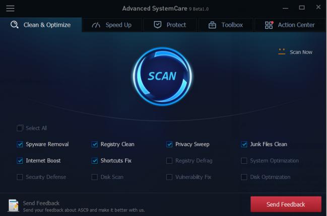 โปรแกรมเร่งความเร็วเครื่อง Advanced SystemCare Free