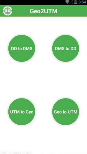 App แปลงหน่วย Geo2UTM