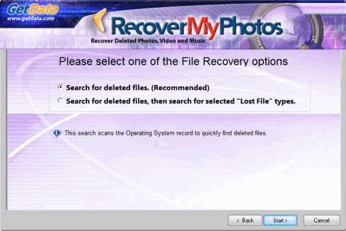 โปรแกรมกู้ไฟล์ Recover My Photos
