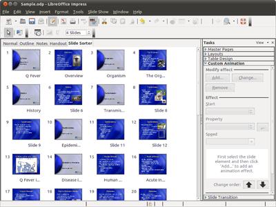โปรแกรมนำเสนองาน LibreOffice Impress