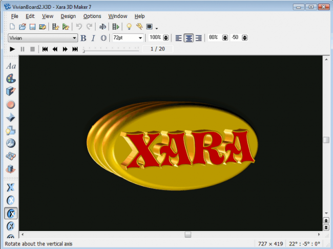 โปรแกรมออกแบบโลโก้ Xara 3D Maker