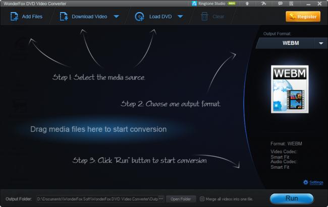 โปรแกรมแปลงไฟล์ ตัดต่อวีดีโอ WonderFox DVD Video Converter