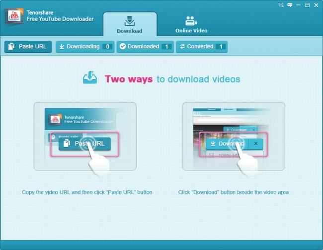 โปรแกรมโหลดวีดีโอ YouTube Tenorshare YouTube Downloader