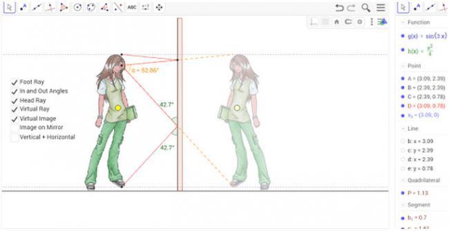 โปรแกรมสร้างสื่อการสอนคณิตศาสตร์ GeoGebra