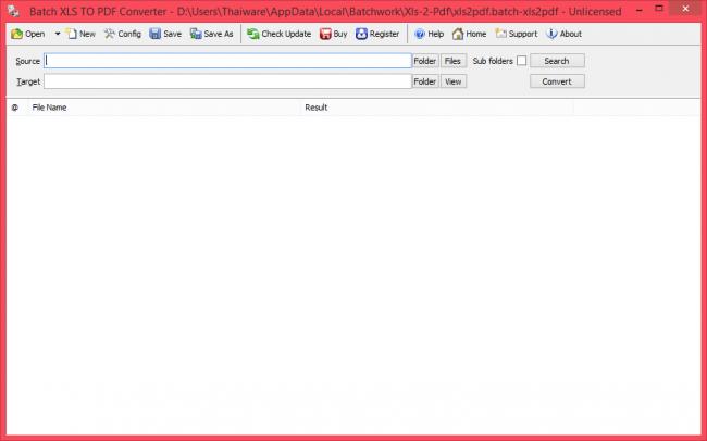 โปรแกรมแปลงไฟล์ Batch Excel to PDF