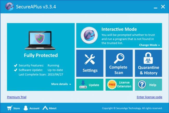 โปรแกรมป้องกันไวรัสมัลแวร์ SecureAPlus