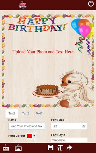 App อวยพรวันเกิด Cake with Name and Photo
