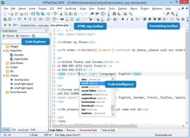 โปรแกรมเขียนเว็บ สร้างเว็บ HTMLPad