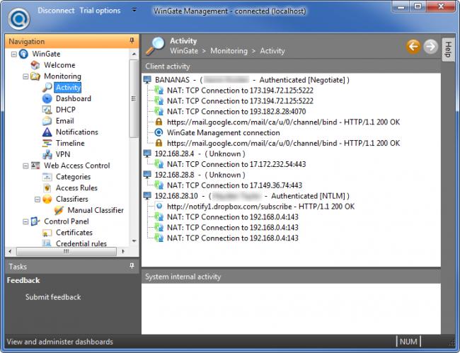 โปรแกรมพร็อกซี่เซิร์ฟเวอร์ WinGate Proxy Server