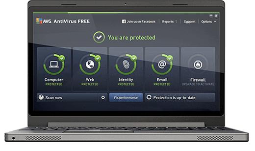 โปรแกรมสแกนไวรัส AVG AntiVirus Free