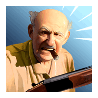 Angry Grandpa Crime Fighter (App เกมส์ คุณตาปืนโหด โหลดกระสุนรัว)