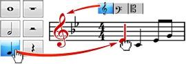 โปรแกรมเขียนโน้ตดนตรี Crescendo Music Notation