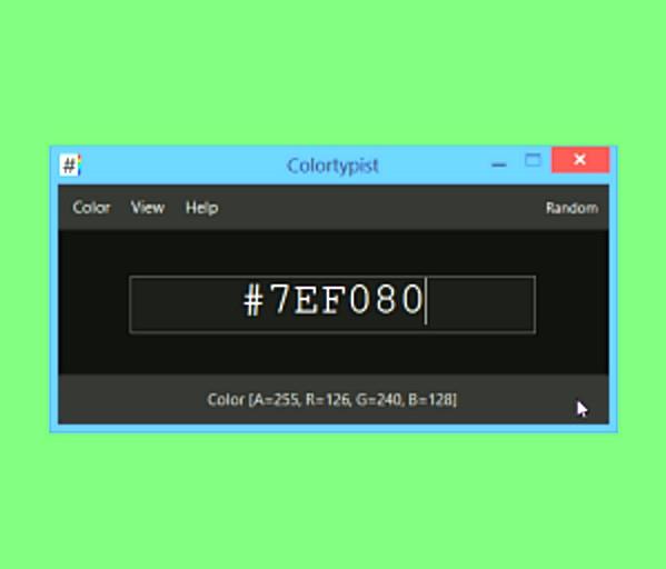 โปรแกรมจัดการโค้ดสี Colortypist