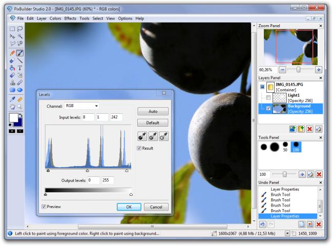 โปรแกรมตัดต่อภาพ PixBuilder Studio
