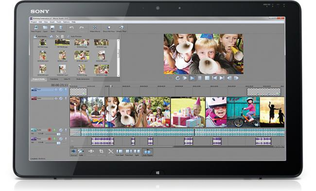 Sony Movie Studio HD (โปรแกรม Sony ตัดต่อวีดีโอ HD) :