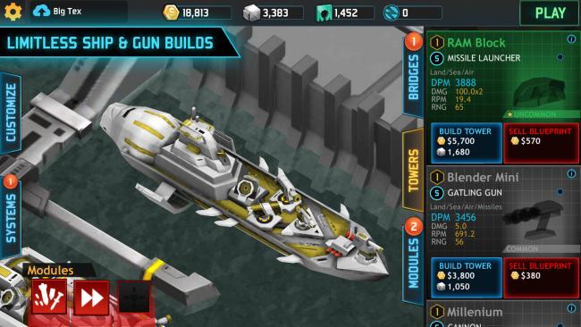เกมส์เรือรบ Fortress Destroyer