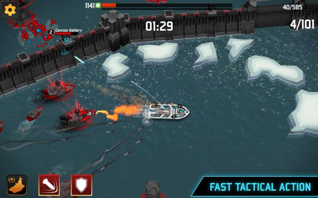 Fortress Destroyer (App เกมส์กองกำลังเรือรบบนน่านน้ำ) :