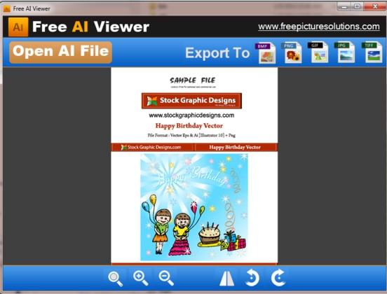 โปรแกรมเปิดไฟล์ Free AI Viewer