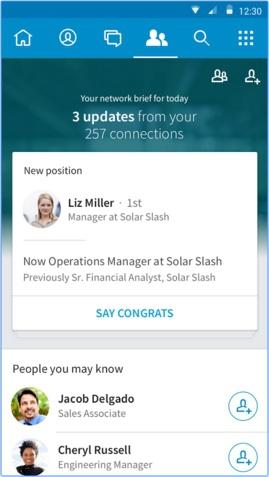 App โซเชียลเน็ตเวิร์ก LinkedIn