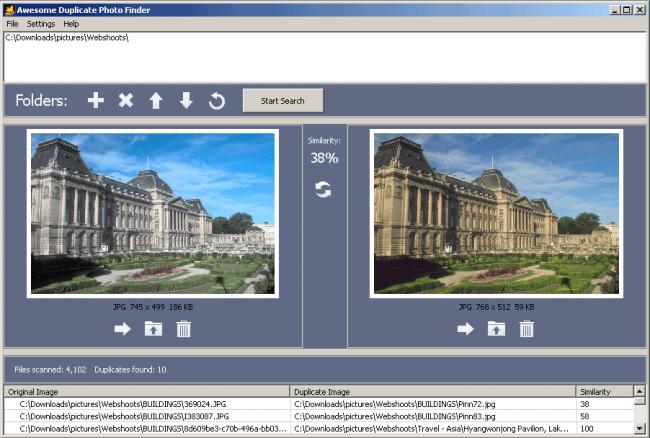โปรแกรมหาภาพซ้ำ Awesome Duplicate Photo Finder