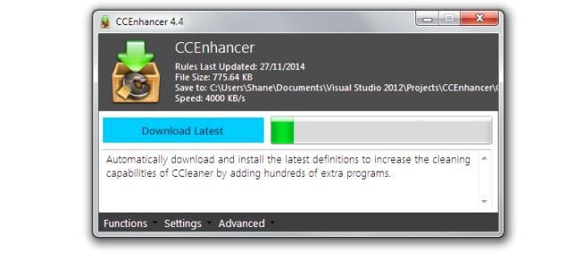 โปรแกรมเพิ่มประสิทธิภาพการลบไฟล์ขยะ CCEnhancer