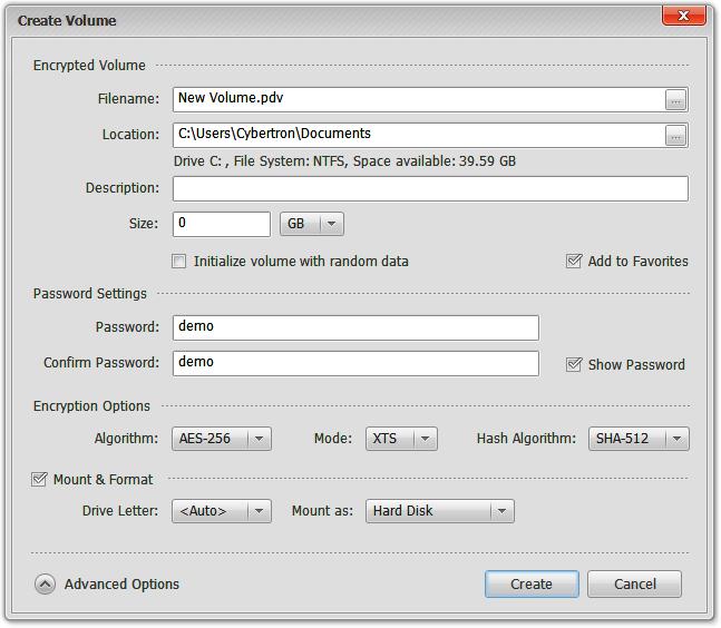 โปรแกรม Privacy Drive ซ่อนไฟล์ ป้องกันไฟล์