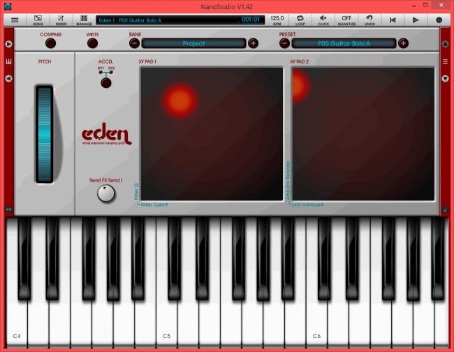 โปรแกรมแต่งเพลง มิกซ์เสียง NanoStudio