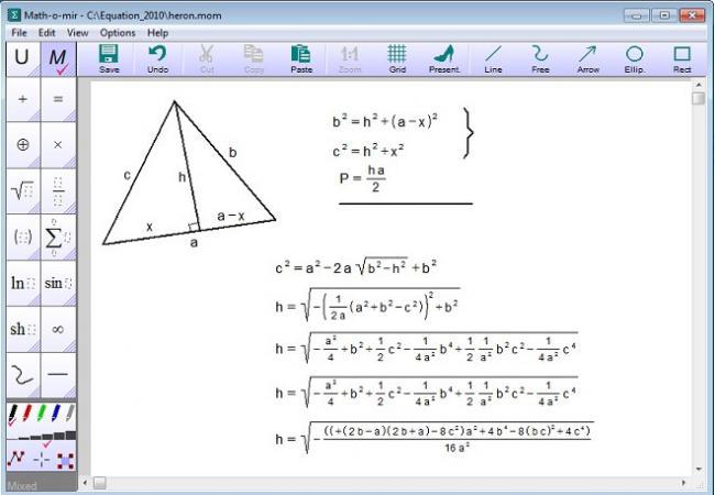โปรแกรมแก้สมการ Math-o-mir