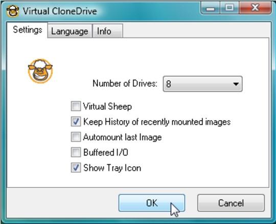 โปรแกรมจำลองไดร์ฟVirtual CloneDrive