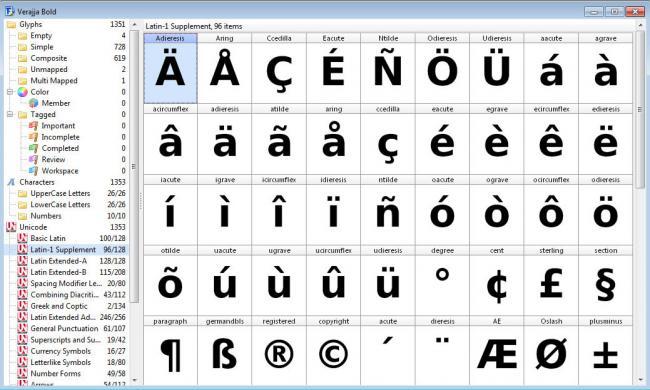 โปรแกรมสร้าง ออกแบบฟอนต์ FontCreator