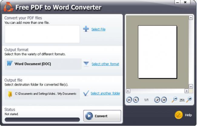 โปรแกรมแปลงไฟล์เอกสาร Free PDF to Word Converter