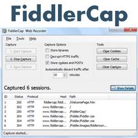 FiddlerCap Web Recorder (ตรวจจับ ดักจับข้อมูล Traffic ของเว็บเพจ) :