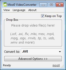 โปรแกรมแปลงไฟล์ Moo0 Video Converter