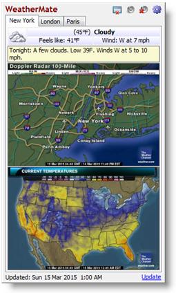WeatherMate (โปรแกรม WeatherMate รายงานอากาศจากทั่วโลก ฟรี) :