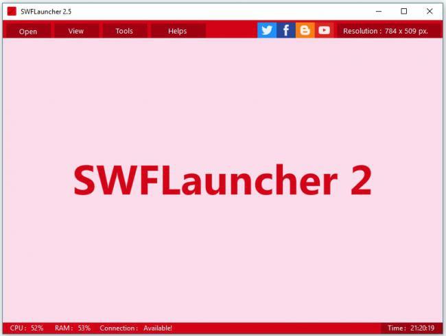 โปรแกรมเปิดไฟล์แฟลช SWFLauncher