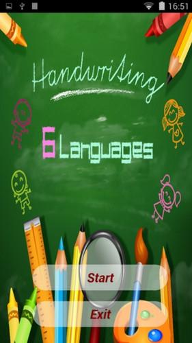 App ฝึกเขียน 6 ภาษา Handwriting 6 Languages