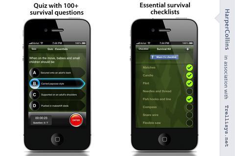 App คู่มือดำรงชีพในป่าSAS Survival