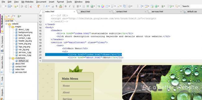 โปรแกรมทำเว็บ เขียนเว็บ Free HTML Editor