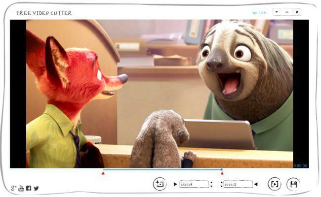 โปรแกรมตัดต่อวีดีโอ แบ่งไฟล์วีดีโอ Free Video Cutter