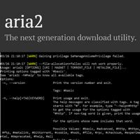 aria2 (โปรแกรม aria2 โหลดไฟล์ หรือ โหลด BitTorrent จากการพิมพ์คำสั่ง ฟรี)