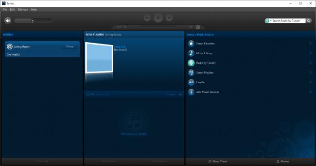 โปรแกรมควบคุมเครื่องเสียง Sonos