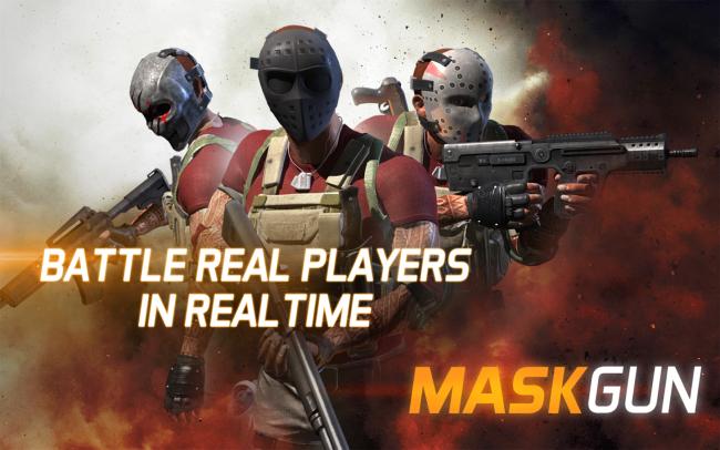 App เกมส์ยิงปืนต่อสู้ MaskGun