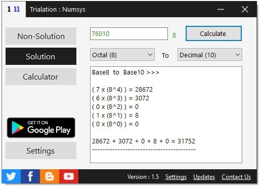 Numsys (โปรแกรม และ แอพพลิเคชั่น คํานวณเลขฐาน พร้อมวิธีทำอย่างละเอียด) :
