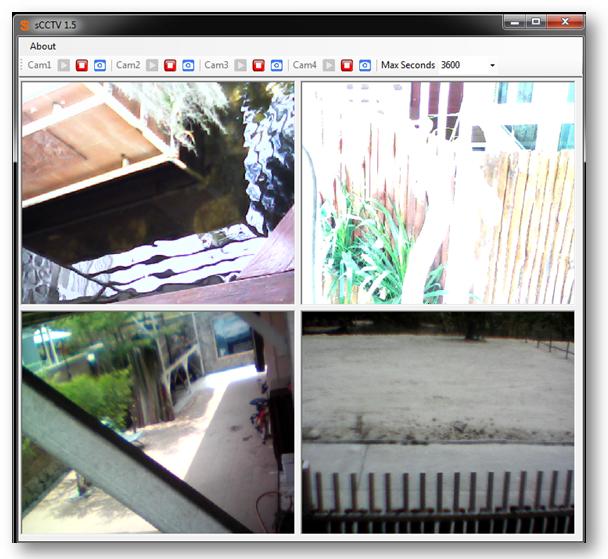 sCCTV (โปรแกรม sCCTV เปลี่ยนเว็บแคม ให้เป็นกล้องวงจรปิด CCTV) :
