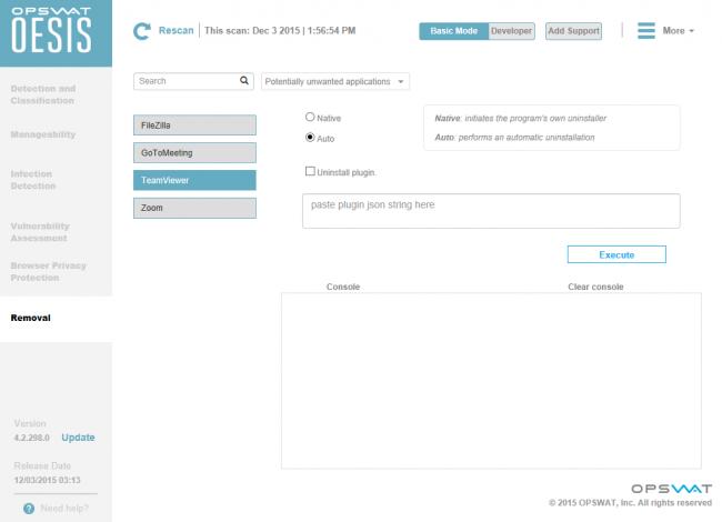 โปรแกรมจัดการถอนการติดตั้งโปรแกรม OESIS Endpoint Assessment Tool