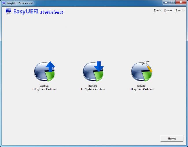 โปรแกรมจัดการคอมพิวเตอร์ EasyUEFI