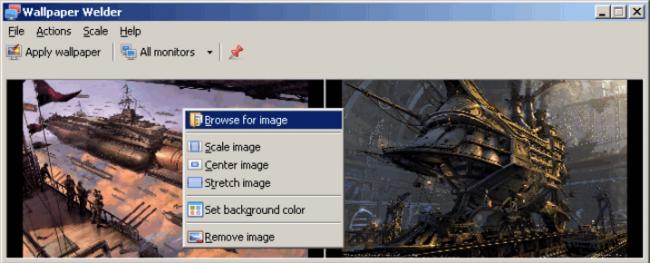โปรแกรม ตั้งค่าภาพพิ้นหลังหลายหน้าจอ Wallpaper Welder