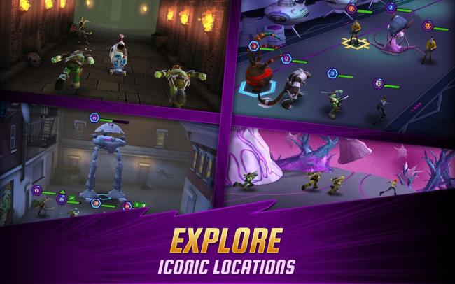 App เกมส์เต่านินจา Ninja Turtles Legends